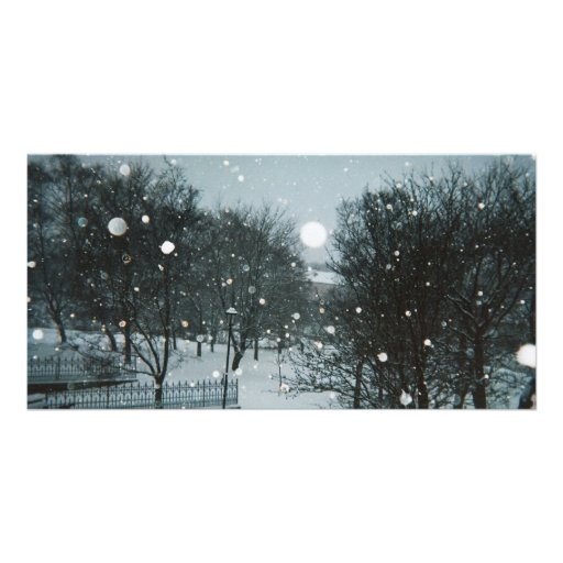 Winter Flakes Customized Photo Card