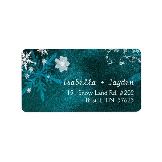 Winter Floral Boho Wedding Return Address Label