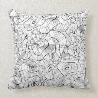 Winter flowers cushion