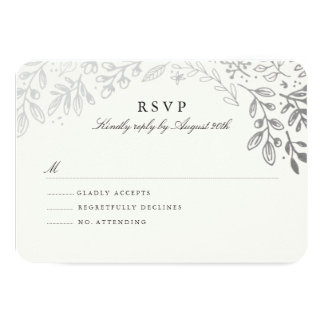 Winter Flowers RSVP Card