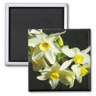 Winter Flowers Square Magnet