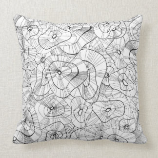 Winter flowers throw pillow