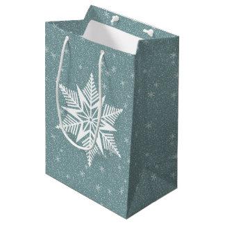Winter flurry snowflake medium gift bag