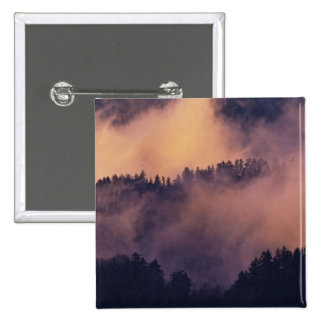 Winter fog in valley at sunset from Morton 15 Cm Square Badge
