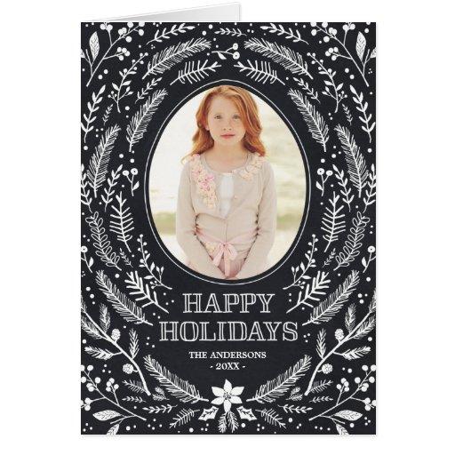 Winter Foliage   Folded Holiday Greeting Card