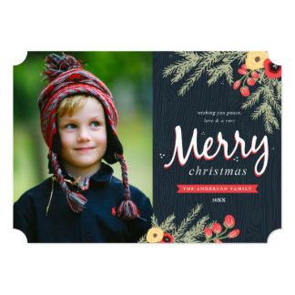 Winter Foliage Holiday Card 13 Cm X 18 Cm Invitation Card
