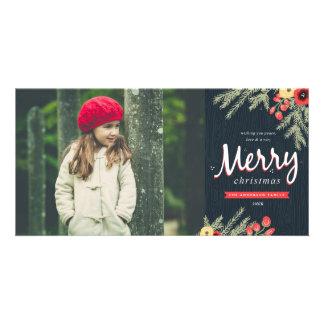 Winter Foliage Holiday Photo Cards