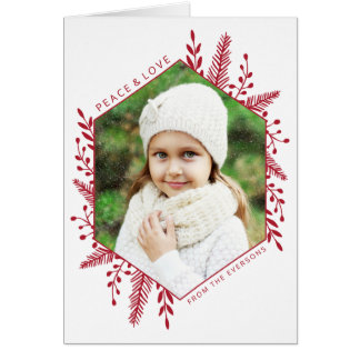 Winter Foliage Photo Holiday Greeting Card