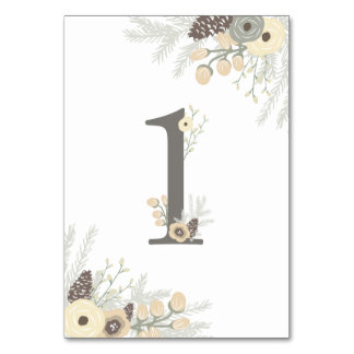 Winter Foliage Table Number 1 Card