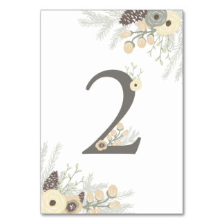 Winter Foliage Table Number 2 Card
