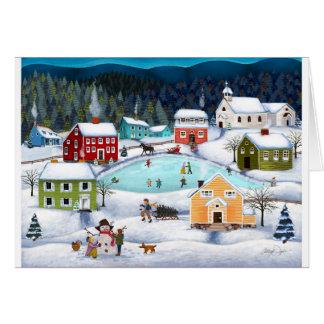 Winter Folk Blank Greeting Card