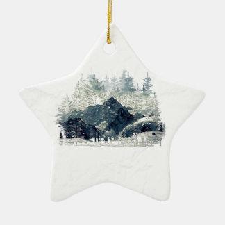 Winter Forest Ceramic Ornament