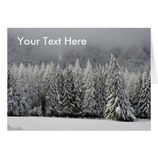 Winter Forest Christmas Scene card