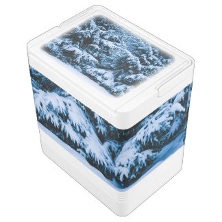 Winter Forest Christmas Tree Cooler
