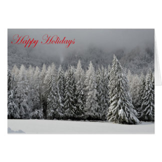 Winter Forest Christmas Tree Scene card