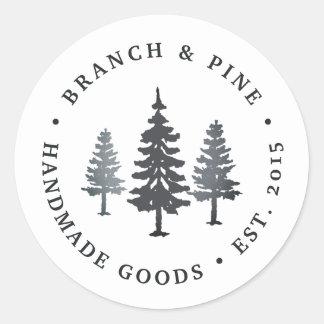 Winter Forest Classic Round Sticker