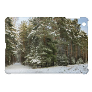Winter forest cover for the iPad mini