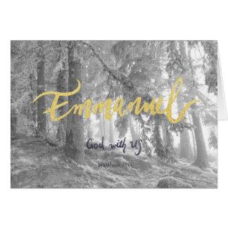 Winter Forest Emmanuel - Christmas Card
