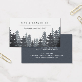 Winter Forest | Evergreen Tree Logo Business Card