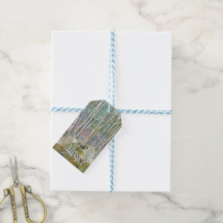 winter forest gift tags