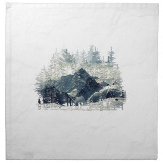 Winter Forest Napkin