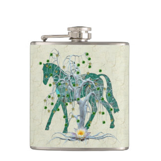 Winter Forest New Year Horse Flasks