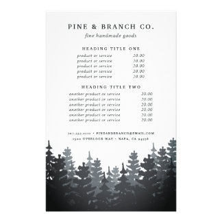 Winter Forest Pricing & Services 14 Cm X 21.5 Cm Flyer