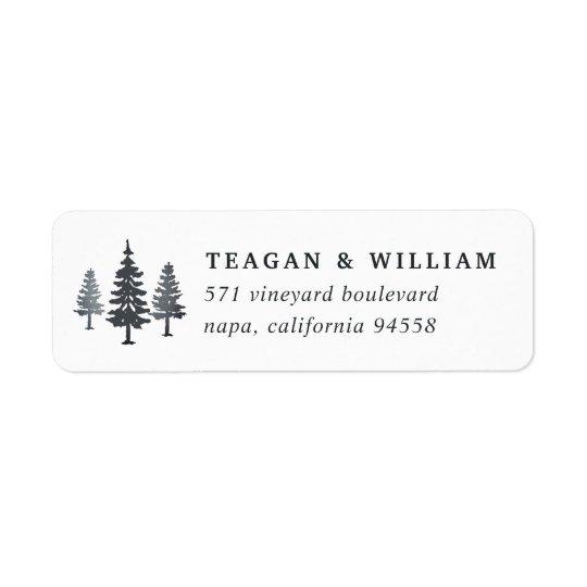 Winter Forest Return Address Return Address Label