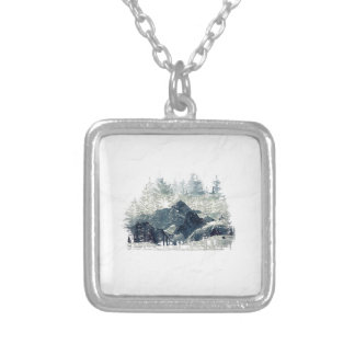 Winter Forest Silver Plated Necklace