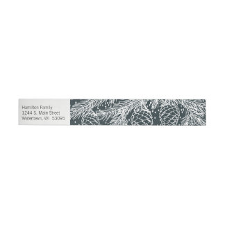 Winter Forest Sketched Address Label Wrap