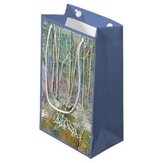 winter forest small gift bag
