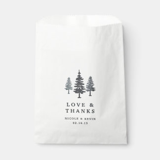 Winter Forest Wedding Thank You Favour Bag