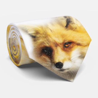 Winter Fox and Snow Designer Tie