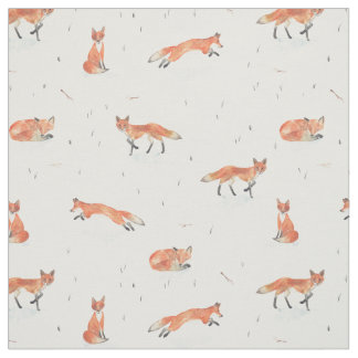Winter Fox Fabric