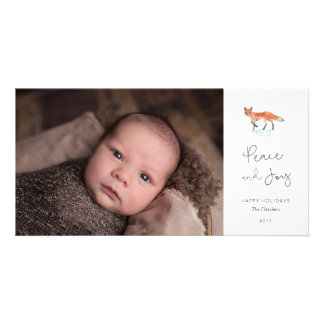 Winter Fox Holiday Photo Card