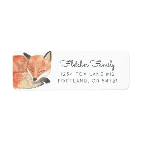 Winter Fox Return Address Label