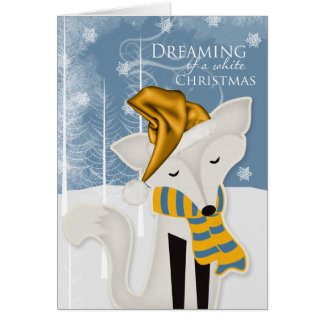 Winter Fox White Christmas - Cute Woodland Theme Card