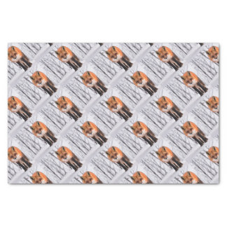 winter fox wrapping paper, woodland gift wrap tissue paper