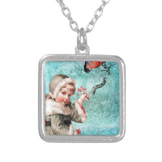 WINTER FRIENDS SILVER PLATED NECKLACE