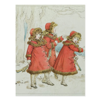 Winter' from April Baby's Book of Tunes, 1900 Postcard