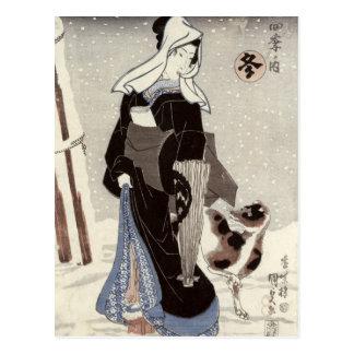 Winter, from the series 'Shiki no uchi' Postcard