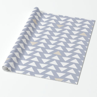 Winter Frost Purple Geo Triangles Wrapping Paper