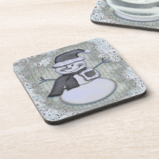Winter Frost Snowman Christmas Holiday Decor Beverage Coasters