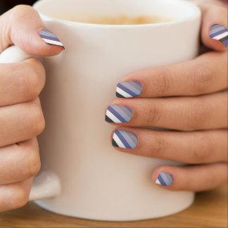 Winter Frost Stripes Minx Nail Art