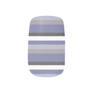 Winter Frost Stripes Minx Nail Art