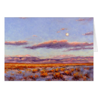 Winter Full Moon at Dusk in Mountain Serving Tray Card