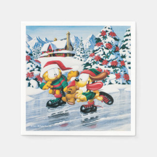 Winter fun with Garfield, Odie & Pooky Disposable Napkin