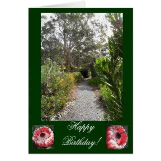 Winter Garden Birthday Card