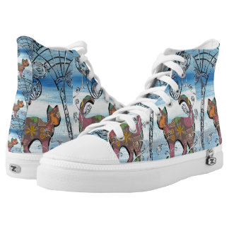 Winter Garden Cat Printed Shoes