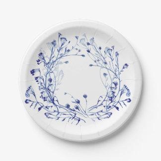 Winter garden paper plate